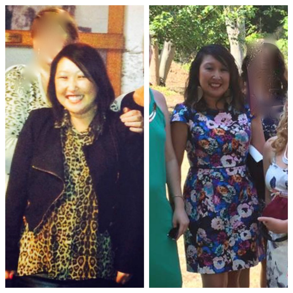 Progress from August 2014 at my heaviest (the last time I had a photo taken of most of my body) to November 2015. I know there are several factors that make it not the best before and after/during example (type of clothing, lighting etc etc) but I know that the person on the right is so much happier. Note: Photo has been retouched really badly to protect the identities of others x